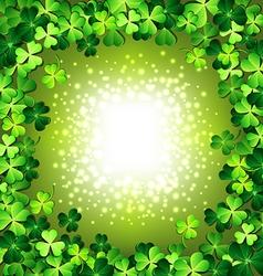 Shamrock frame for St Patricks day card vector image vector image