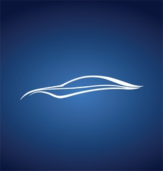 Speedy auto logo over blue vector image vector image
