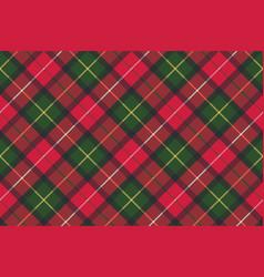 tartan plaid diagonal seamless fabric texture vector image