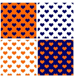 Tile dark navy blue white and orange background vector
