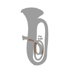 Tuba instrument icon image vector