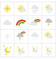 Wheather icons vector image vector image