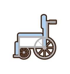 Wheelchair handicap medical symbol vector