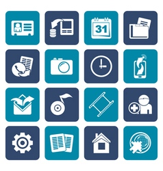Flat Mobile phone menu icons vector image