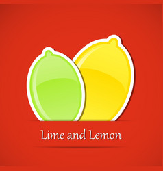 Fruit label lemon vector