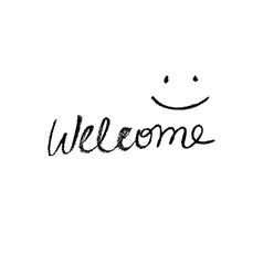 Simple welcome sign vector