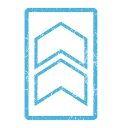 Shift up icon rubber stamp vector
