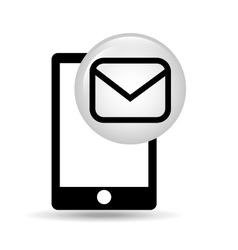 Smartphone screen email message vector