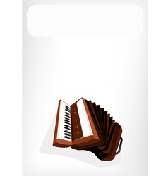 A retro accordion with a white banner vector