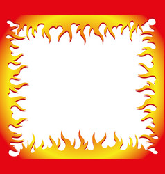Flame frame vector