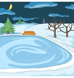 Outdoor skating rink vector