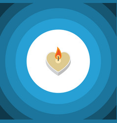Flat icon passion set of candle objects vector