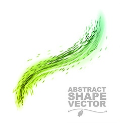 Wave abstract green vector