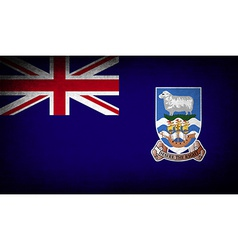 Flag of falkland islands with old texture vector