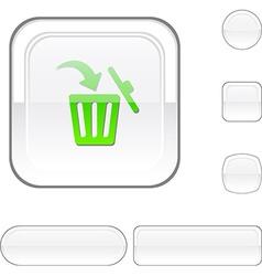 Delete white button vector