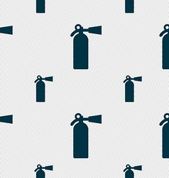 Extinguisher icon sign seamless pattern with vector