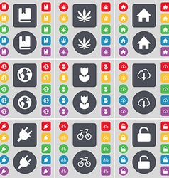 Dictionary marijuana house earth folder cloud vector