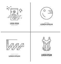 Gymnastics logotypes vector