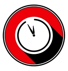 Red information icon - last minute clock vector