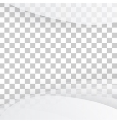 White of wavy banner vector