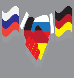 Friendship between russia and germany vector