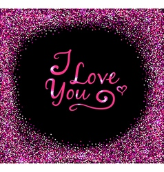 Glittering background for valentines day vector