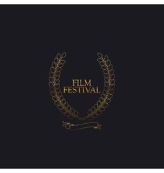 Film festival award sign vector