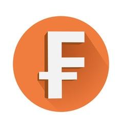Franc symbol vector image