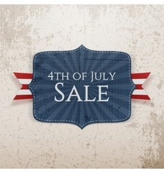 Fourth of july sale realistic tag vector