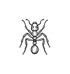 ant hand drawn sketch icon vector image