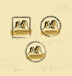arizona outdoor adventure mountain hiking creative vector image vector image