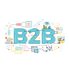 b2b business to business word vector image vector image