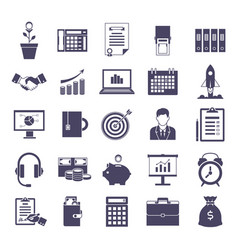 business simple icons set vector image vector image