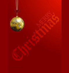 Christmas red background with decorative text and vector