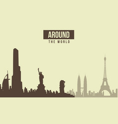 Collection stock traveling theme background vector