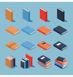 Colourful book set vector