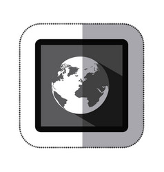 Contour earth planet icon vector