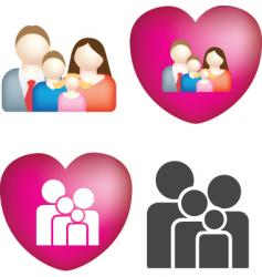 family love vector image