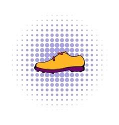 Golf shoe icon comics style vector