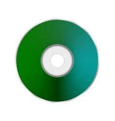 Green Compact Disc vector image