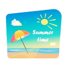 Image of summer time vector image