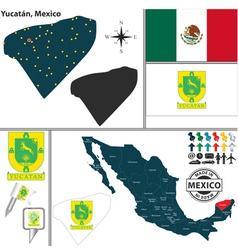 Map of yucatan vector
