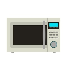 Microwave Icon Card vector image