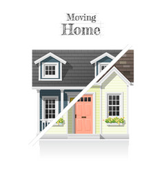 Moving home concept background vector