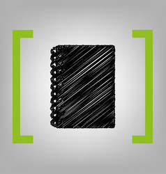 notebook simple sign black scribble icon vector image vector image