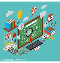 Online education learning teaching concept vector