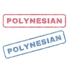 Polynesian textile stamps vector