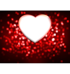 Red heart frame EPS 8 vector image vector image