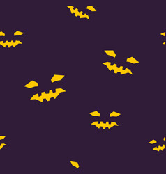 Seamless pattern of halloween face vector