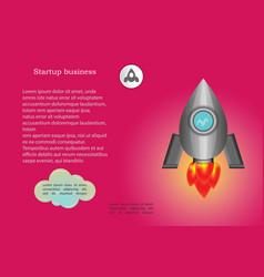 startup business design rocket part 2 vector image